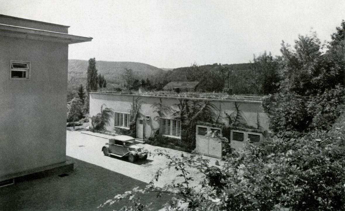 Domek u vily Stiassni (zhruba rok 1939)
