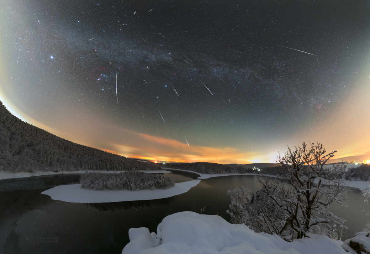 Geminidy nad Sečskou přehradou