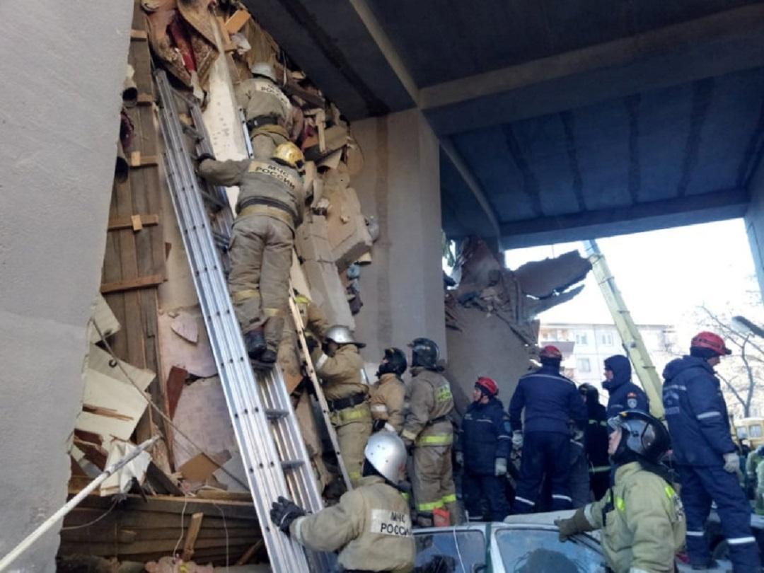 Výbuch plynu zničil obytný dům v Magnitogorsku