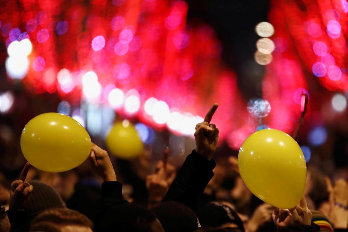 Vítání nového roku v Paříži
