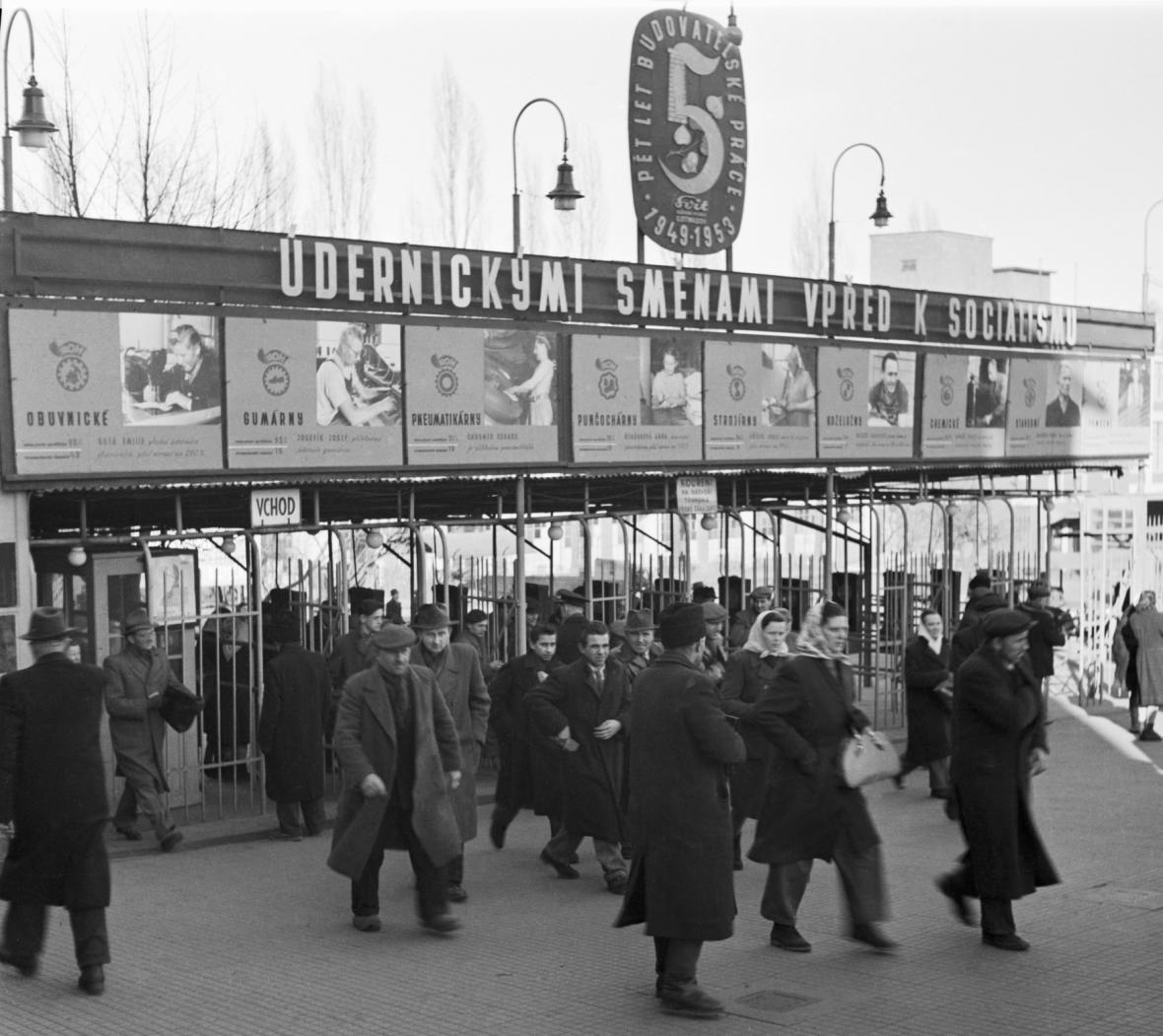 Gottwaldov v letech 1949 - 50