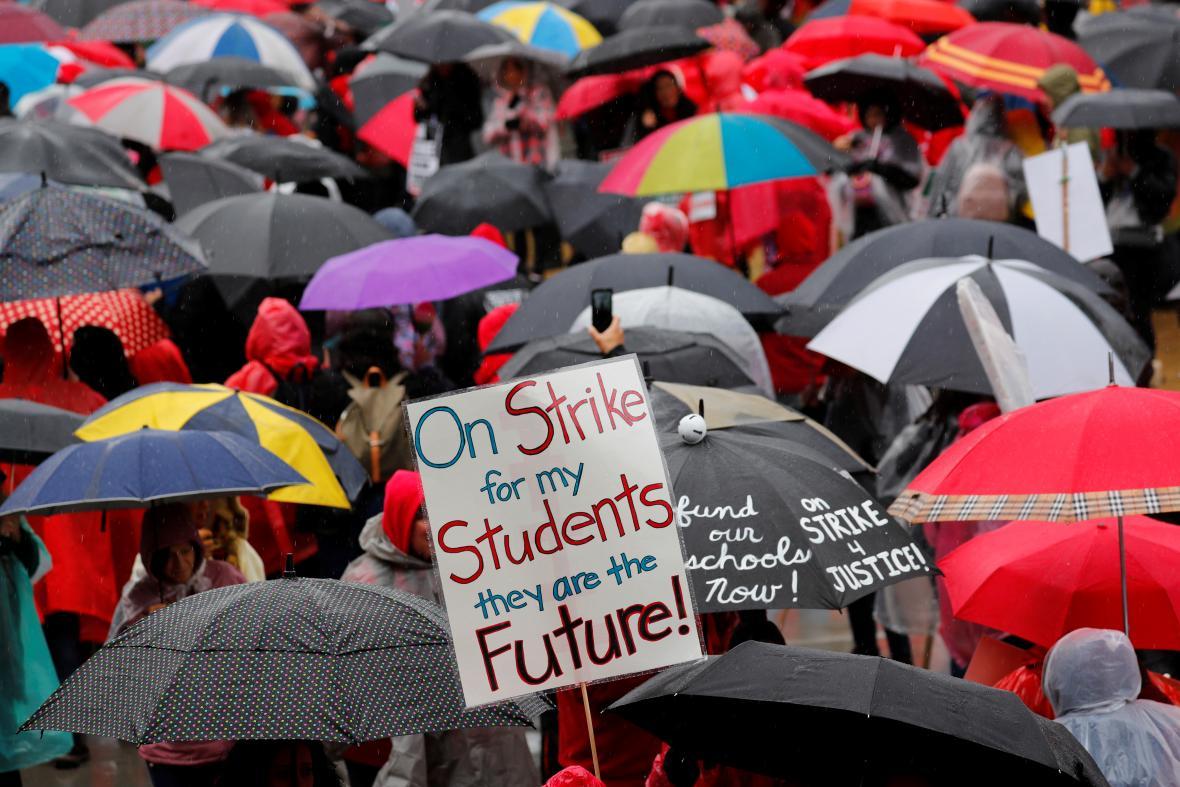 Stávka učitelů v LA