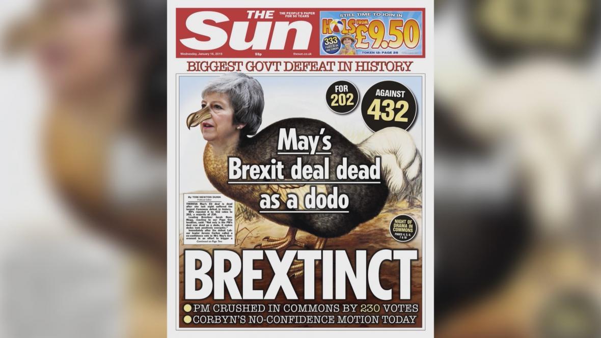 Titulní strany britských novin