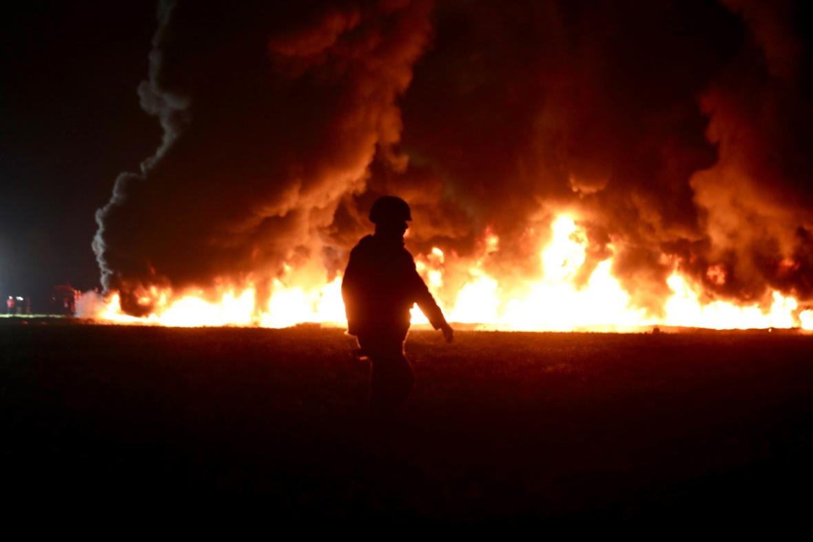 Výbuch ropovodu v Mexiku