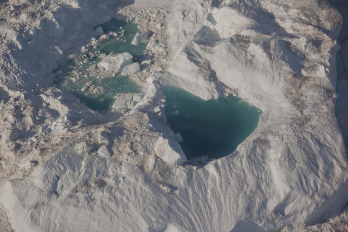 Tající ledovec Sermeq Kujalleq
