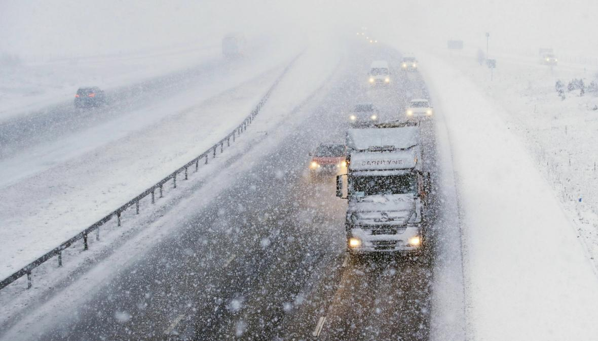 Sněhový blizard v Británii