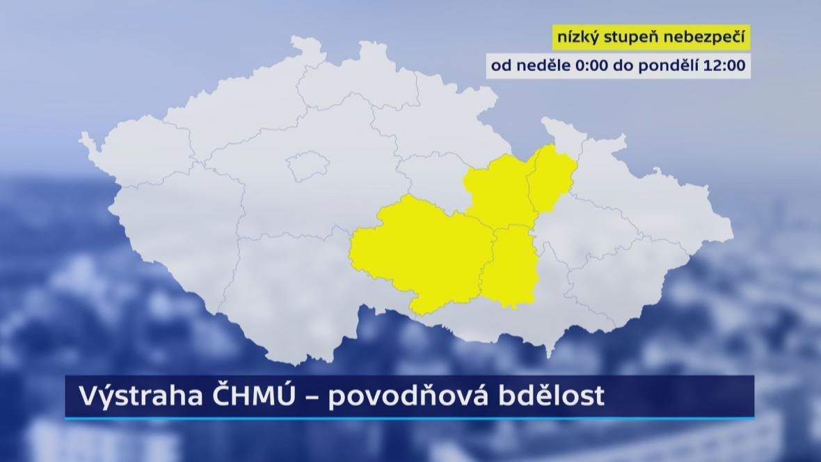 Výstrahy ČHMÚ na neděli 3. 2.