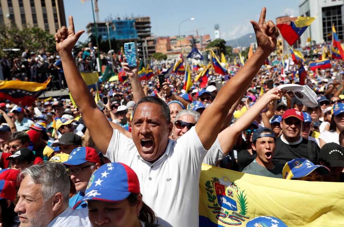 Prostest v Caracasu proti Madurově vládě
