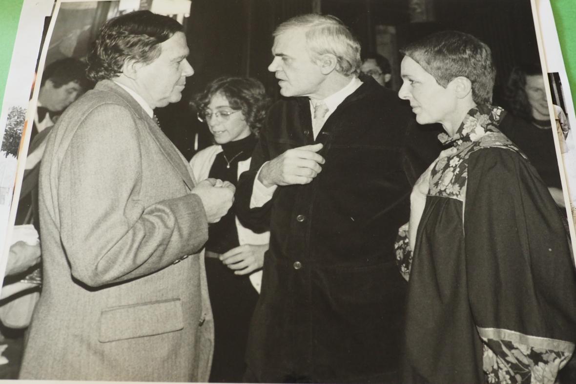 Peter Demetz a Milan Kundera