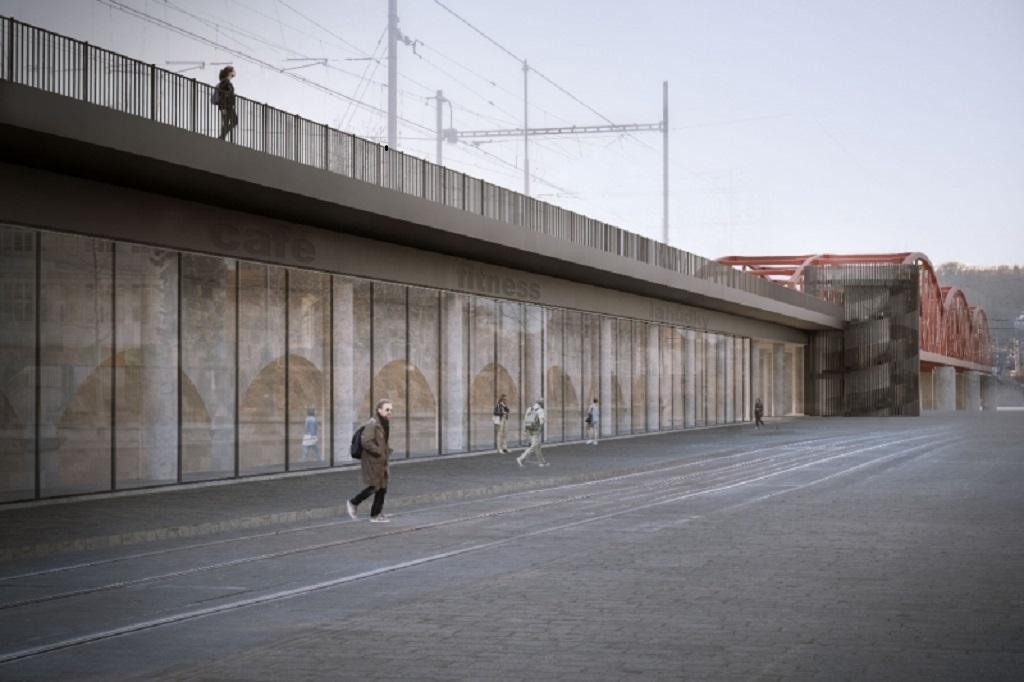 Vizualizace nového mostu na Výtoni z dílny Instutu plánování a rozvoje