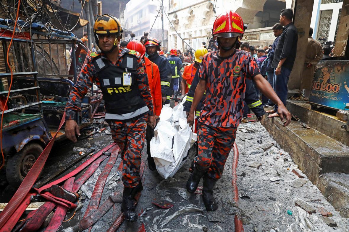 Požár v Dháce