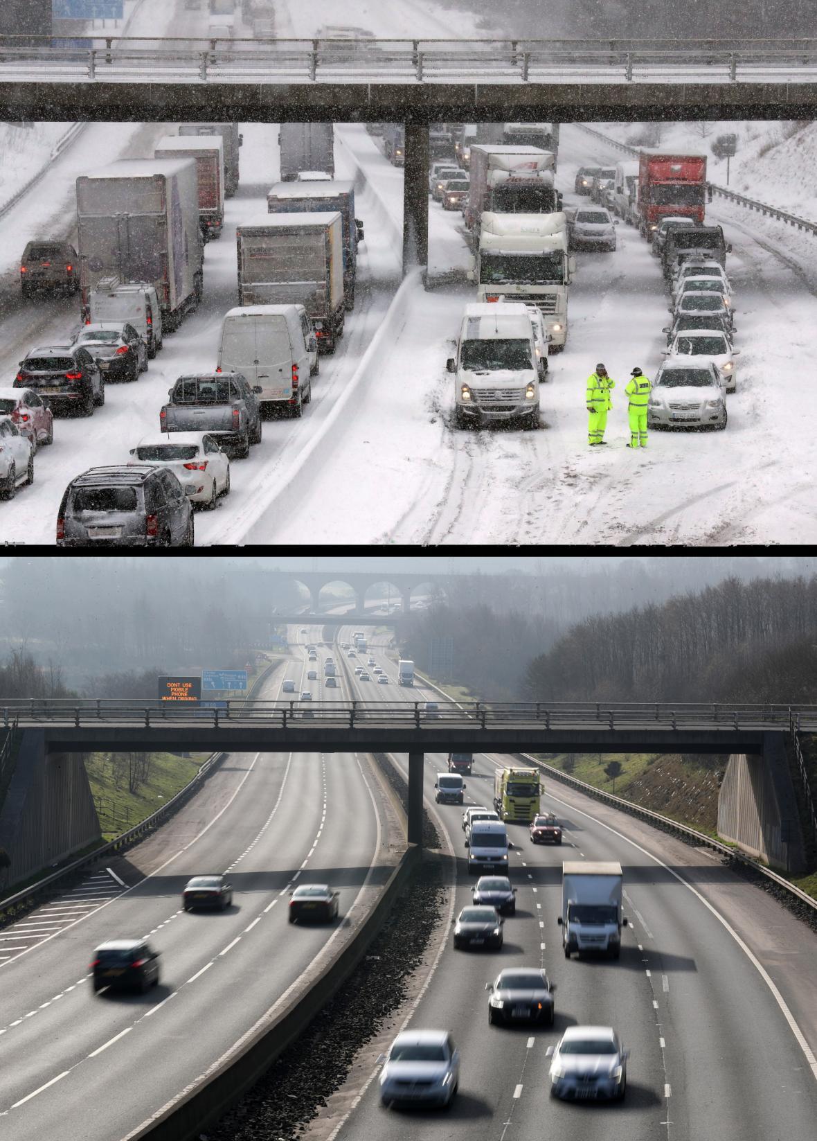 Počasí v Británii koncem února 2018 a koncem února 2019