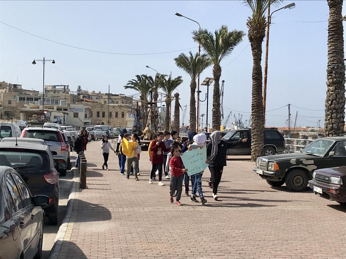 Přístav ve městě Sidón