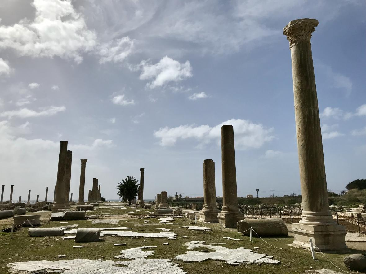 Antické ruiny v Týru