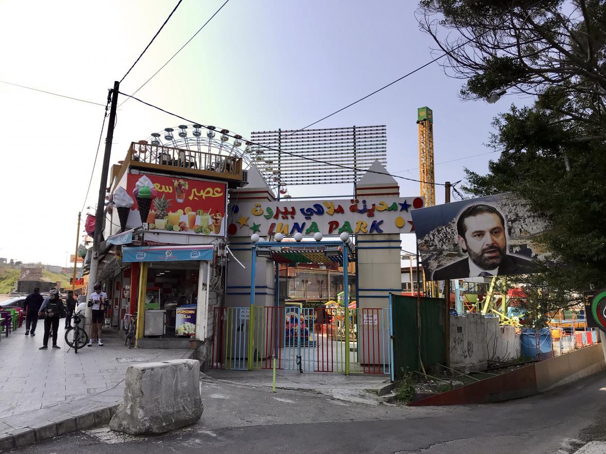 Lunapark v bejrútské čtvrti Manara