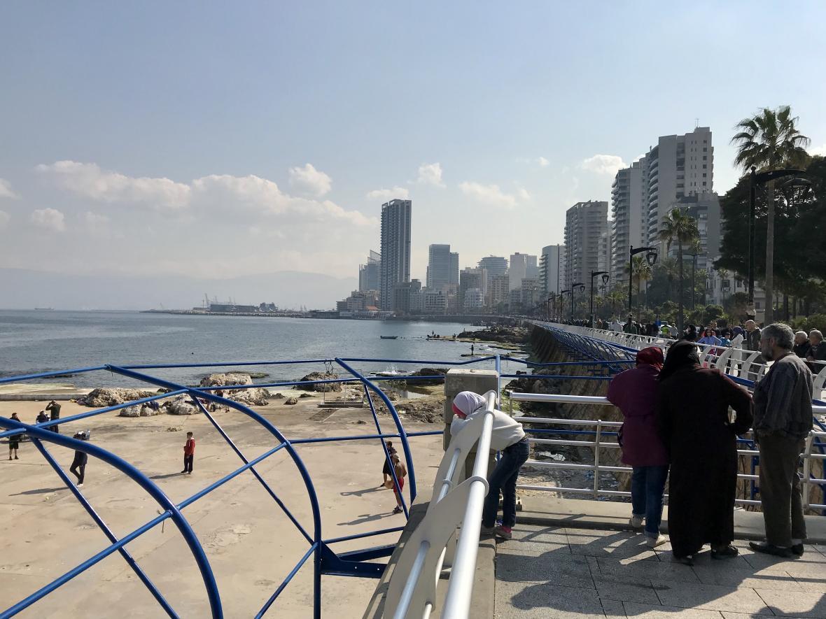 Promenáda v Bejrútu