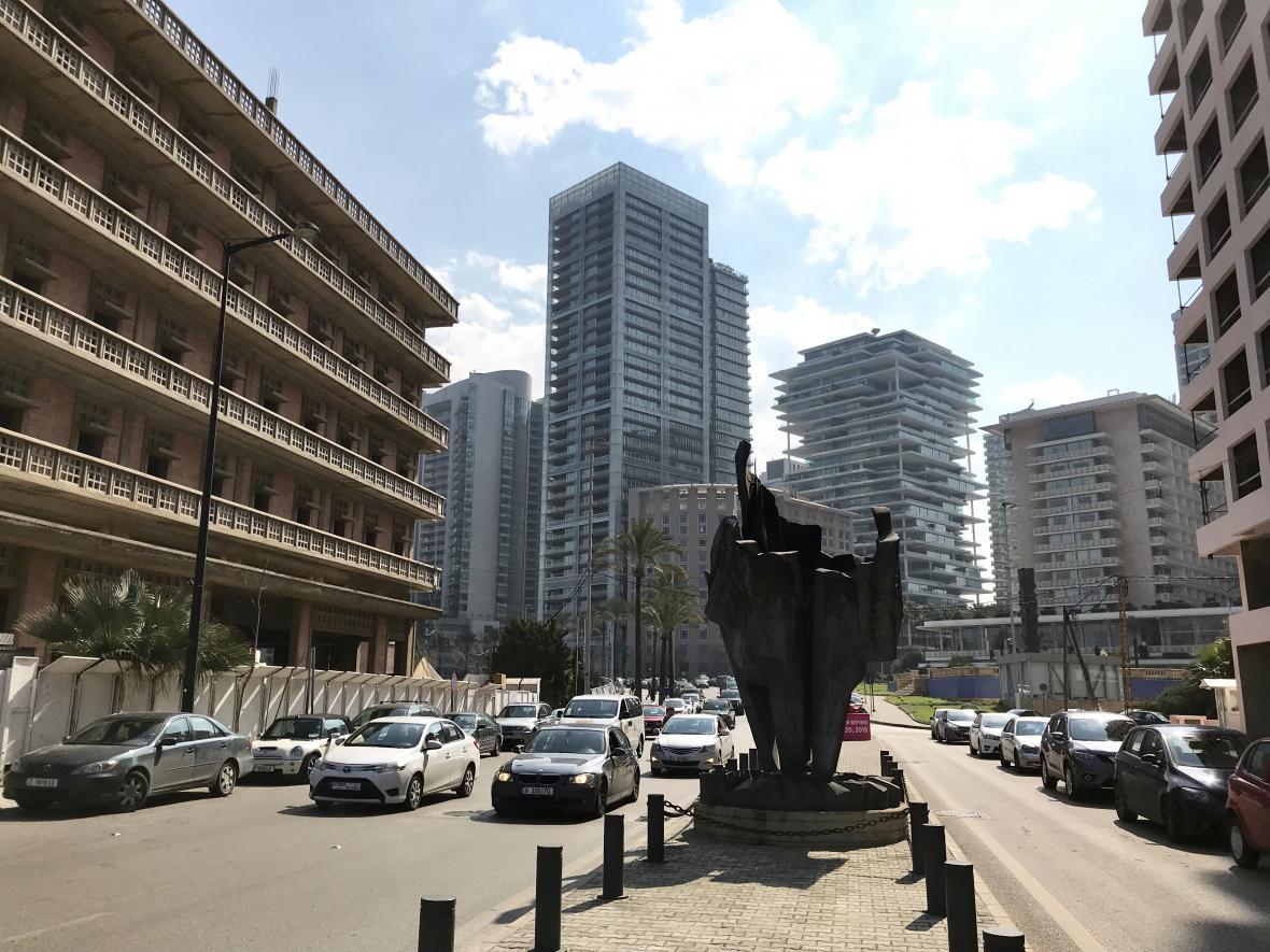 Opravené centrum libanonské metropole