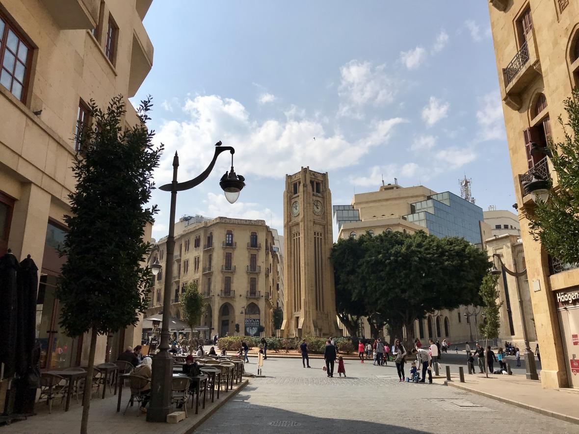 Opravené centrum Bejrútu