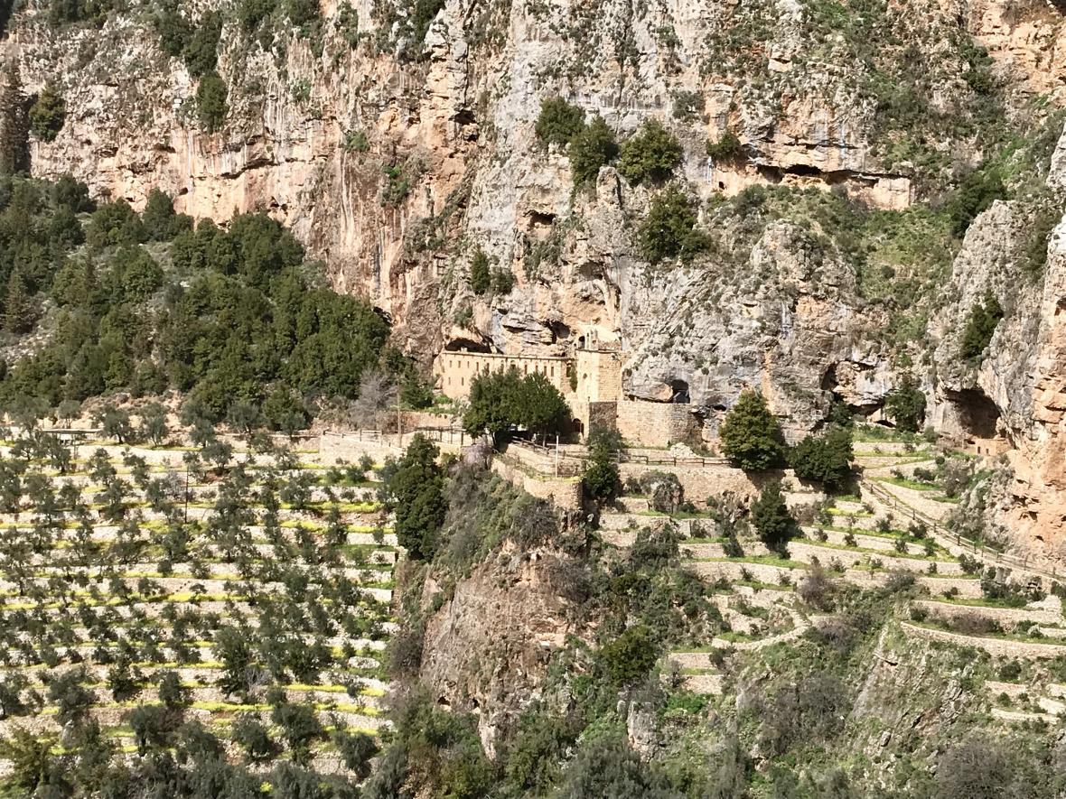 Výhled na klášter Már Lišá