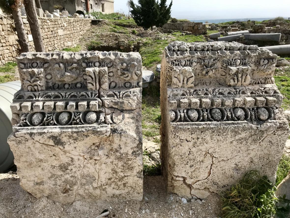 Starověké ruiny v Týru