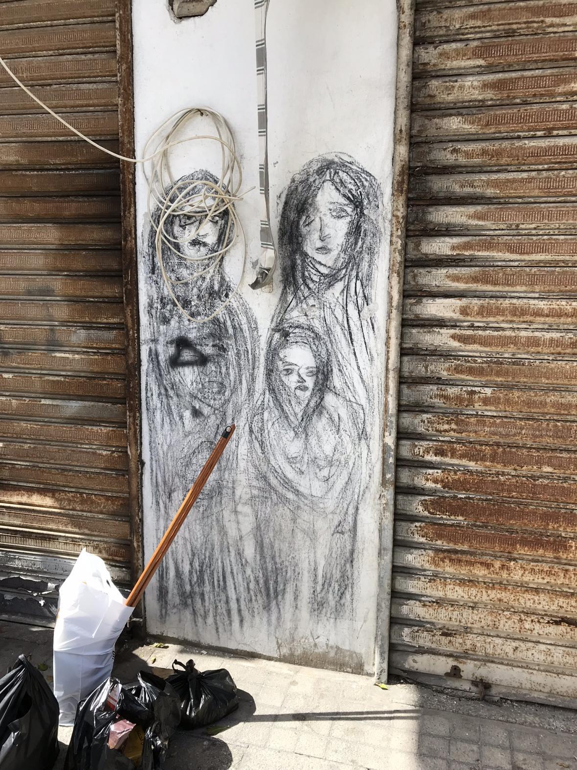 Pouliční malby v Týru