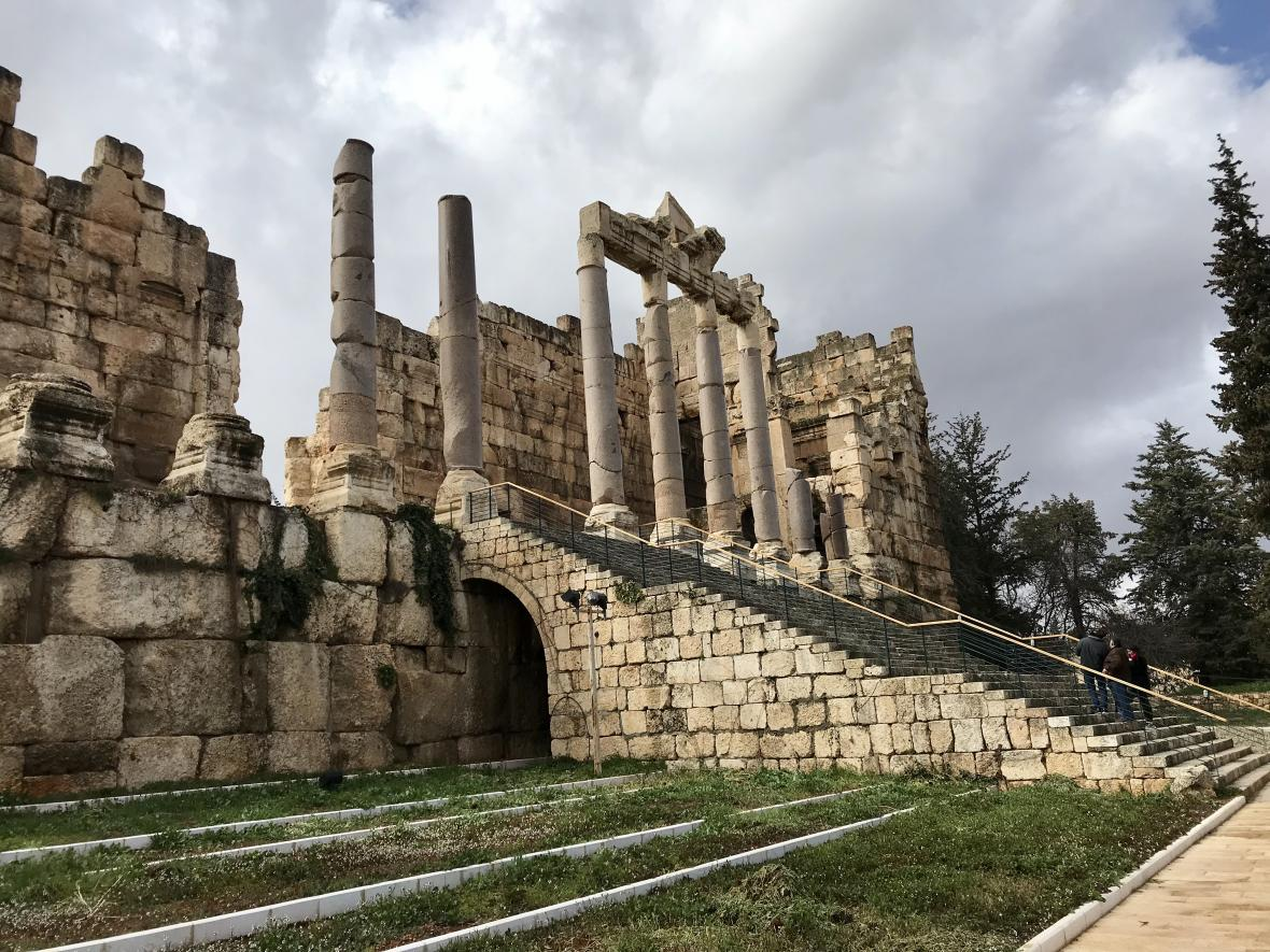 Ruiny pradávného komplexu chrámů v Baalbeku