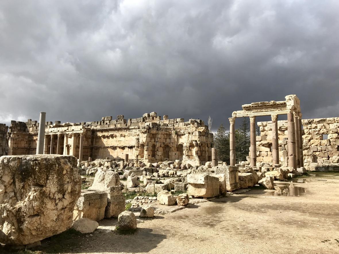 Pozůstatky chrámů v Baalbeku