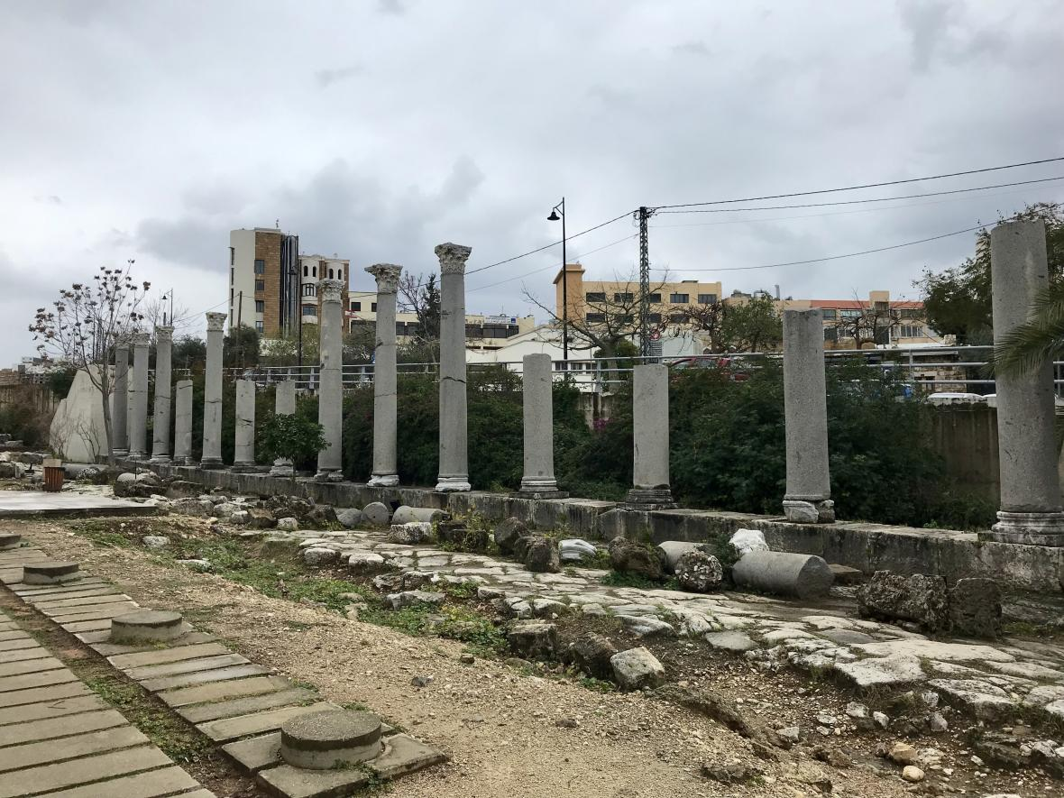 Ruiny starého města uprostřed Byblosu