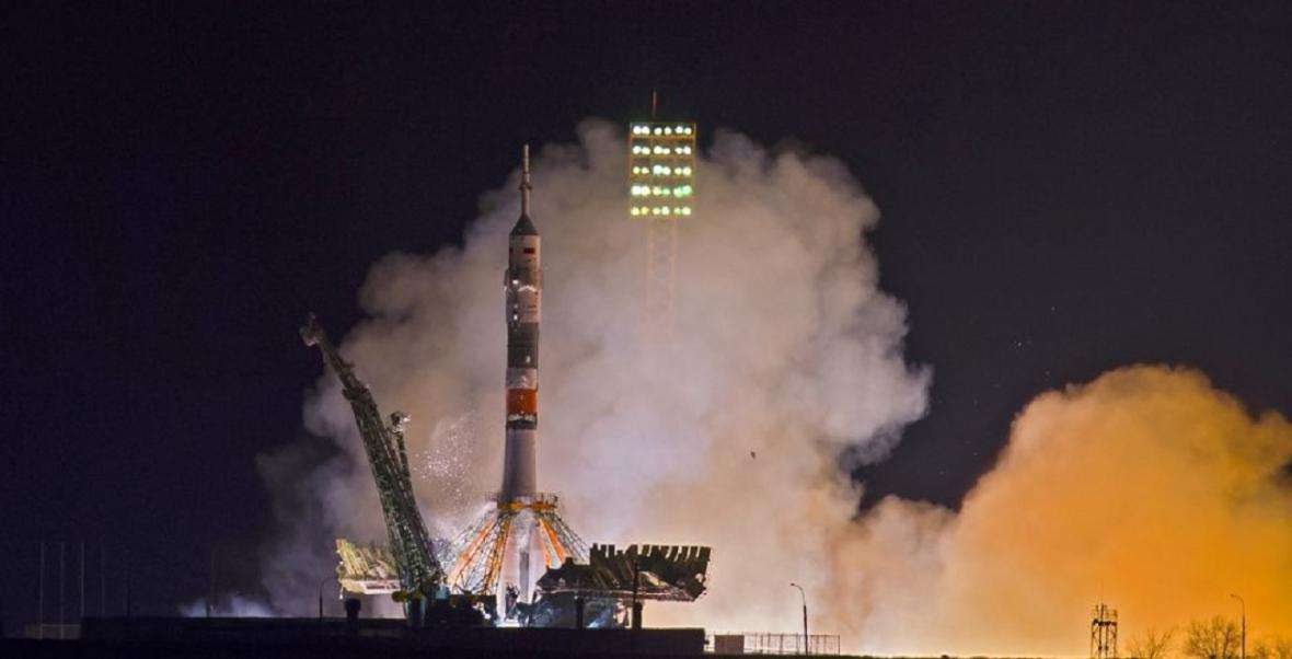 Start Sojuzu 14. března