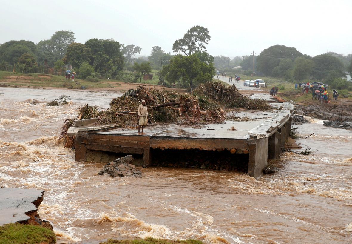 Následky cyklóny Idai v Zimbabwe