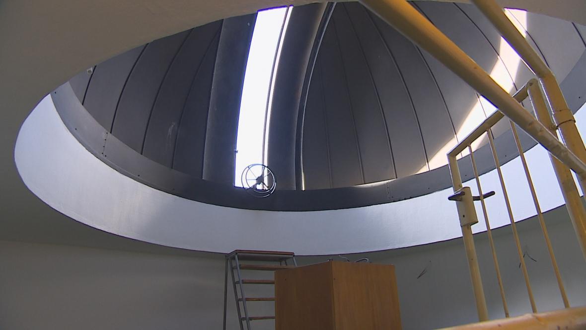 Opravená hvězdárna ve Ždánicích