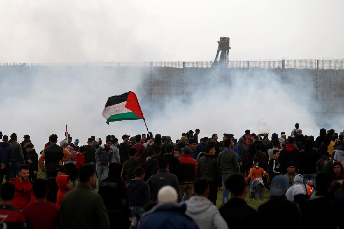 Výročí protestů na hranicích Pásma Gazy