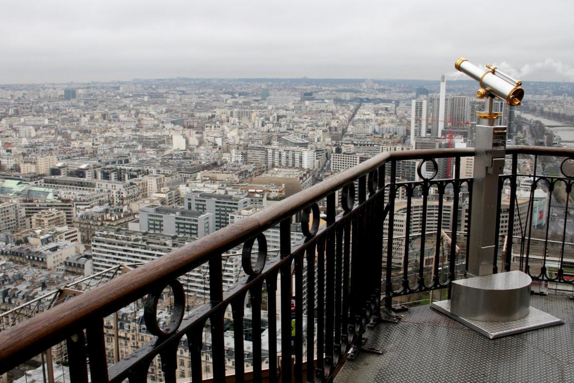 Výhled ze druhého patra věže (rok 2016)