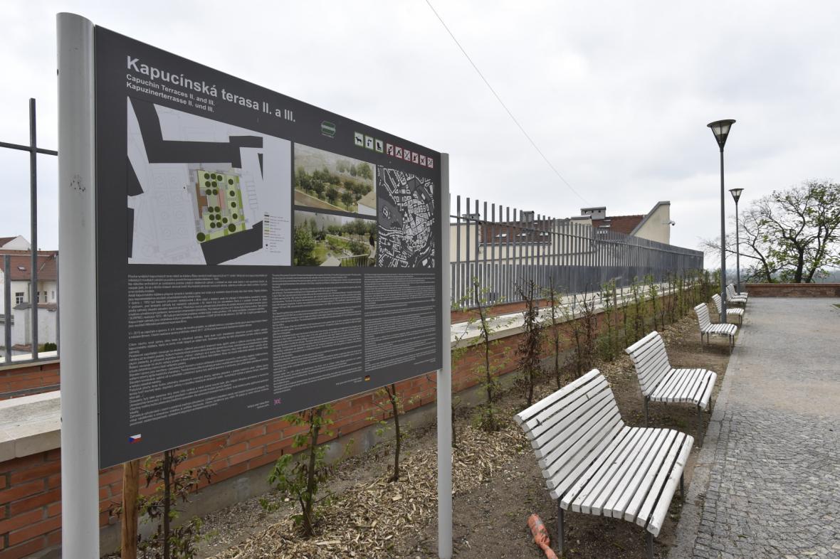 Brněnské Kapucínské terasy po rekonstrukci
