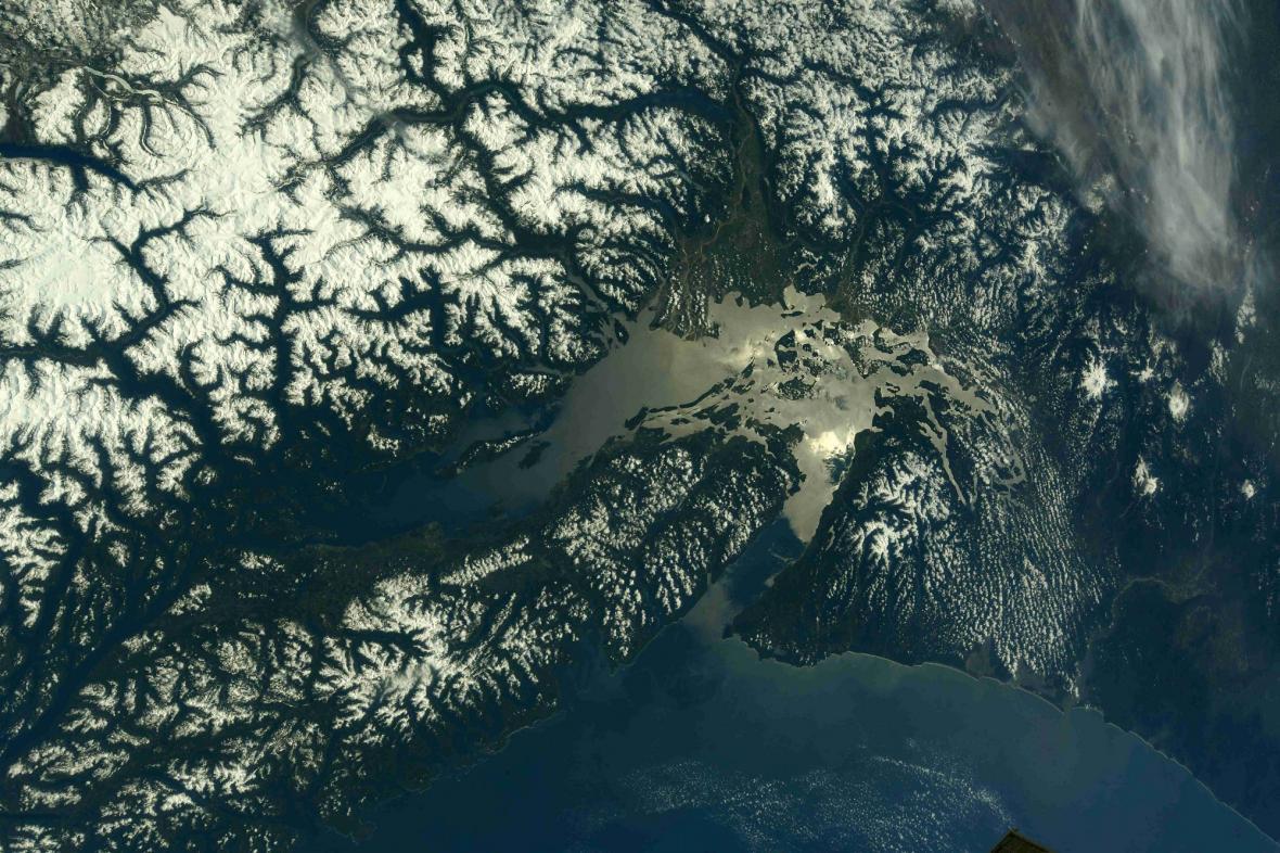 Fotky amerických národních parků pořízené z vesmíru
