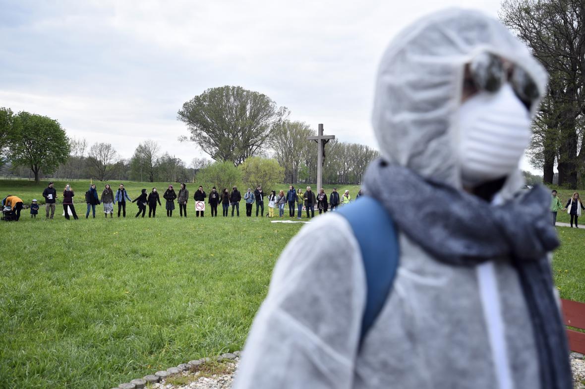 Protest proti rozšíření dolu Turów