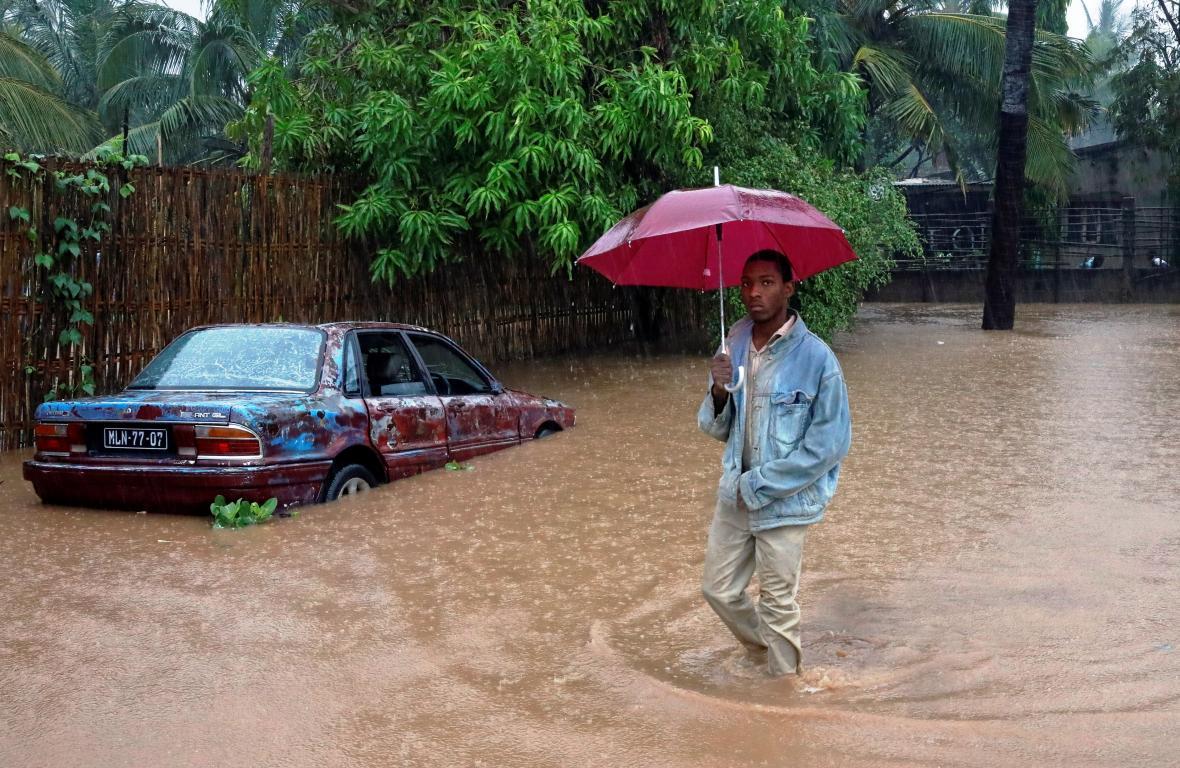 Následky cyklonu Kenneth v Mosambiku