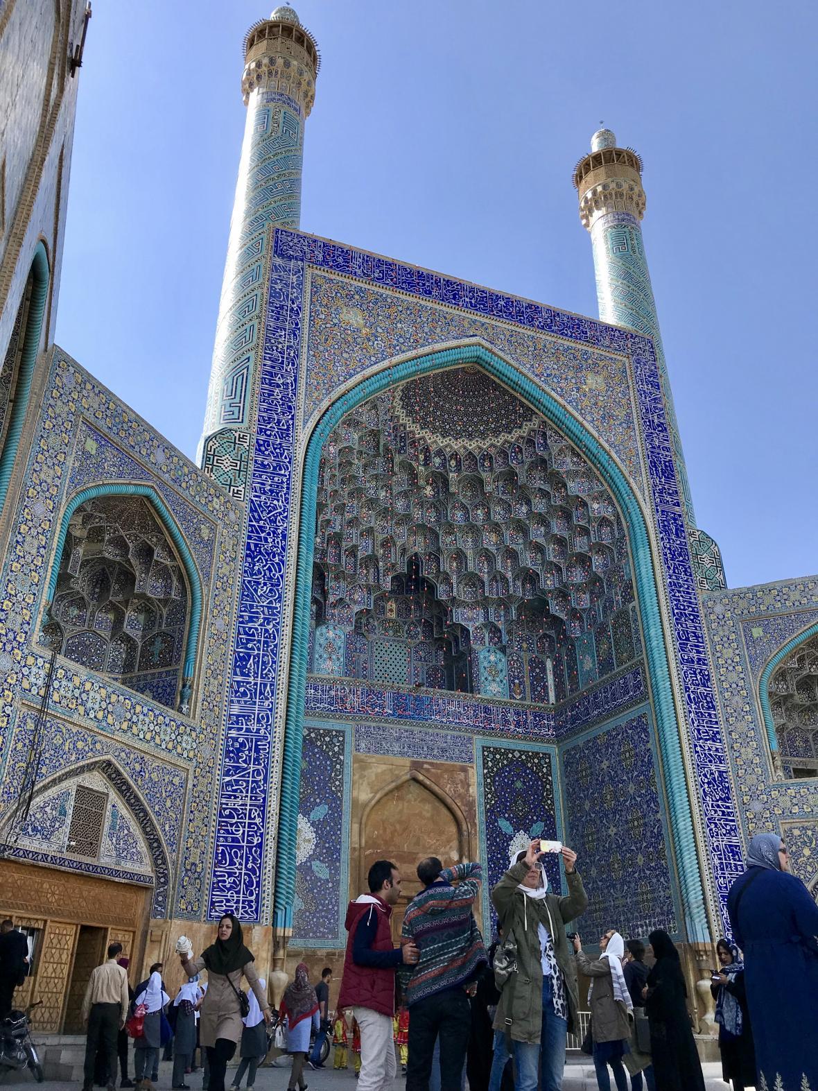 Modrá mešita v Isfahánu