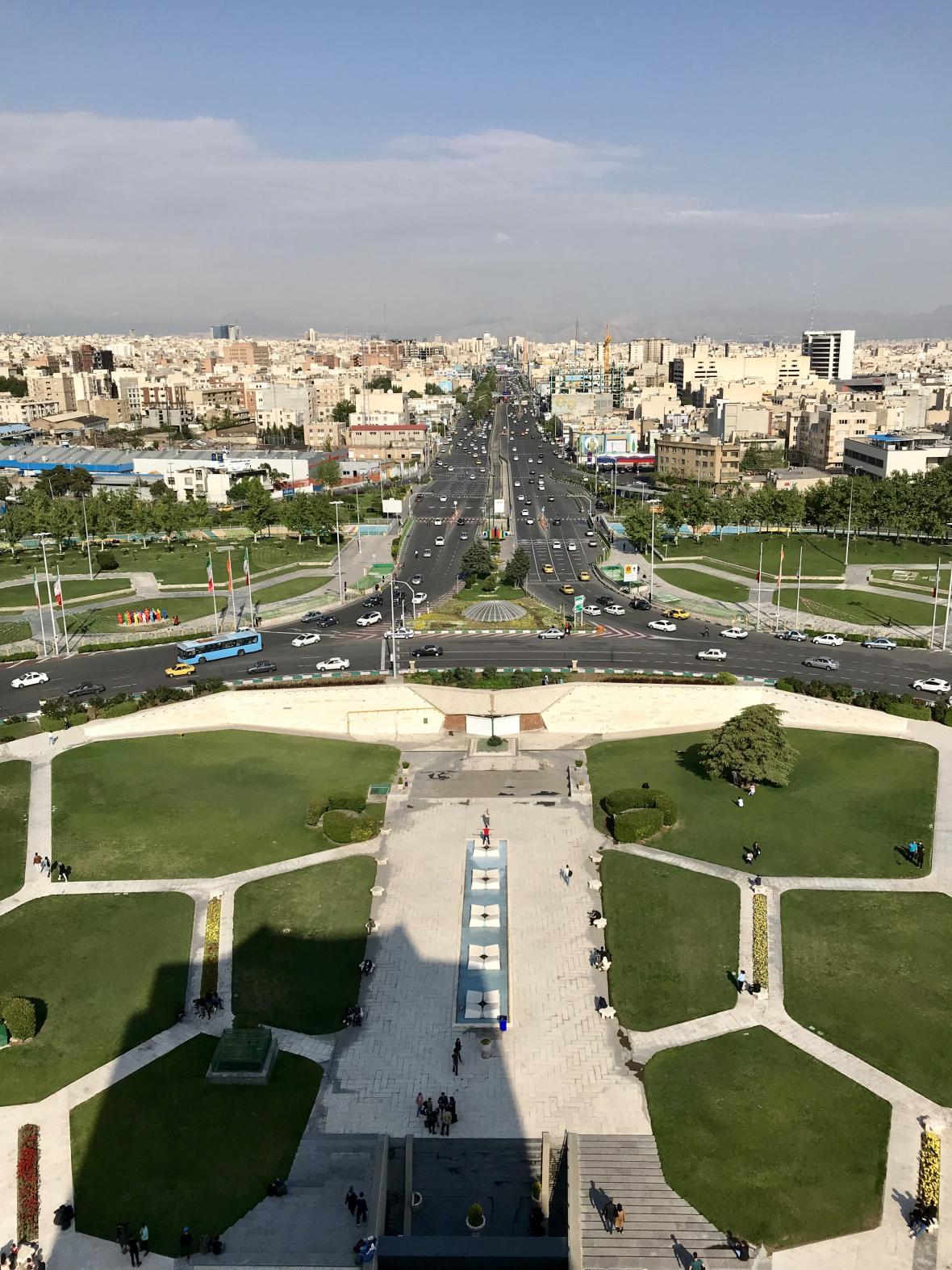 Výhled z Azadi Tower