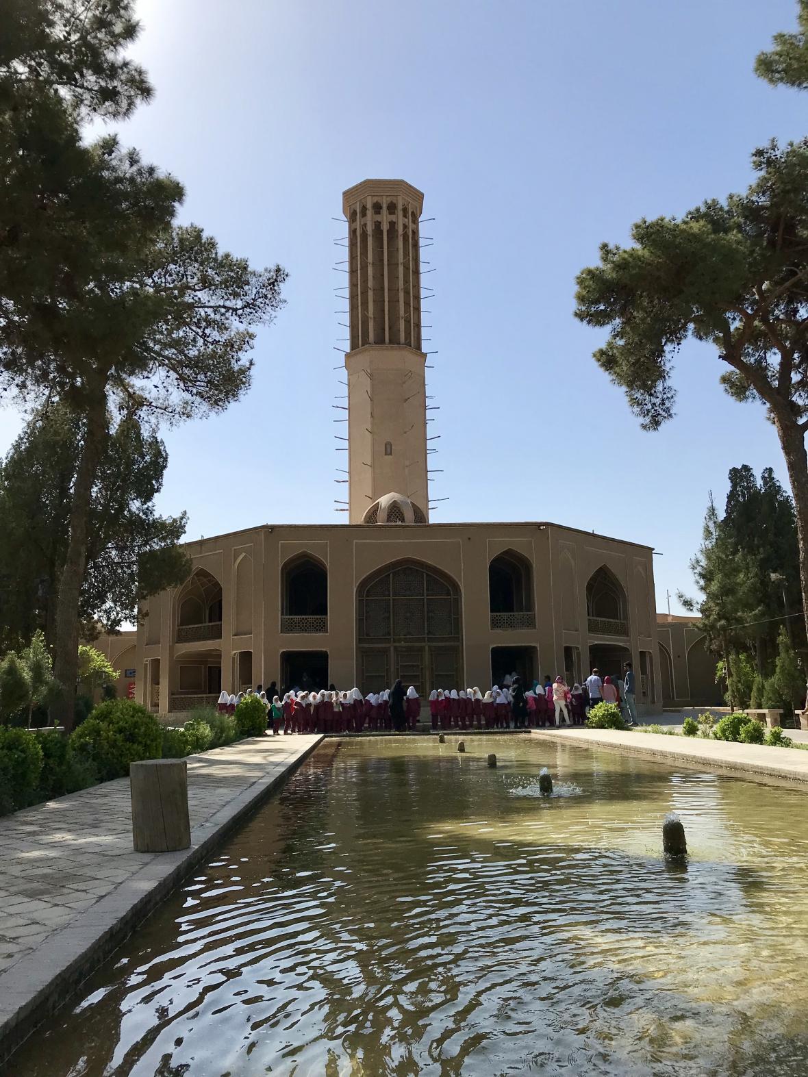Klimatizační věž v zahradě Dolat-Abad
