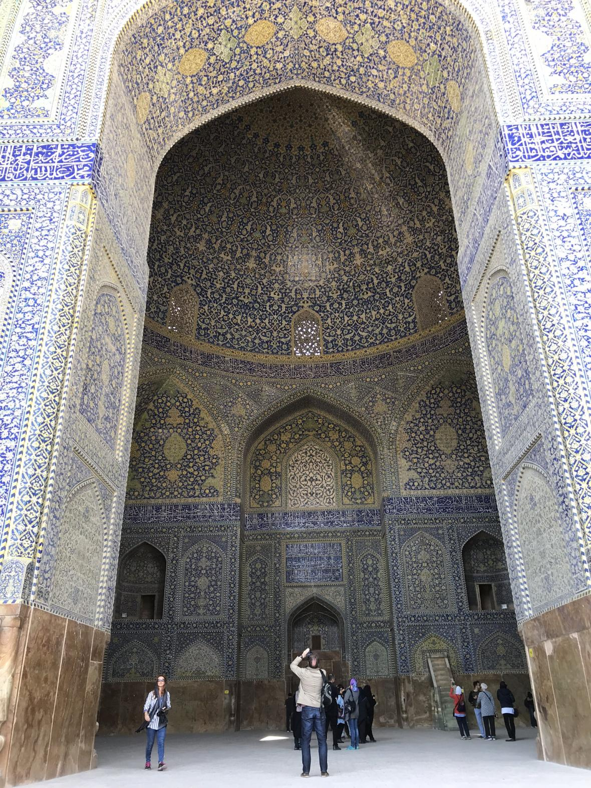 Prostory Modré mešity v Isfahánu