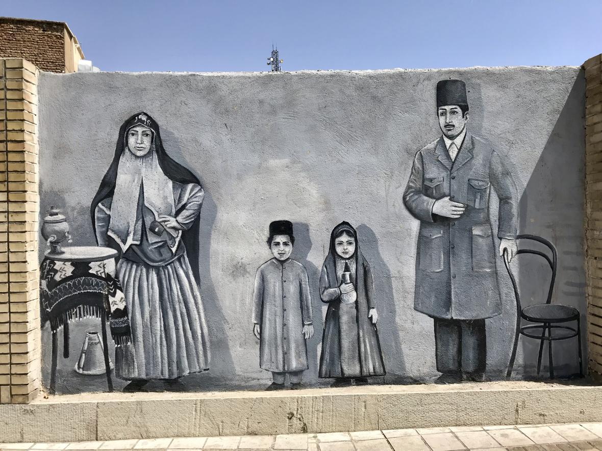 Pouliční umění v Šírázu