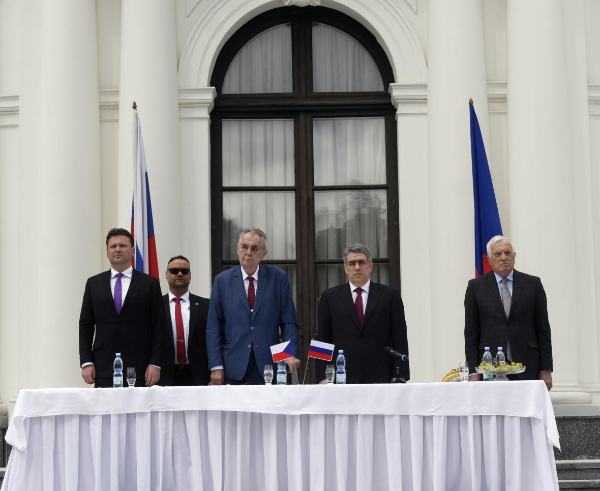 Oslavy Dne vítězství na ruském velvyslanectví