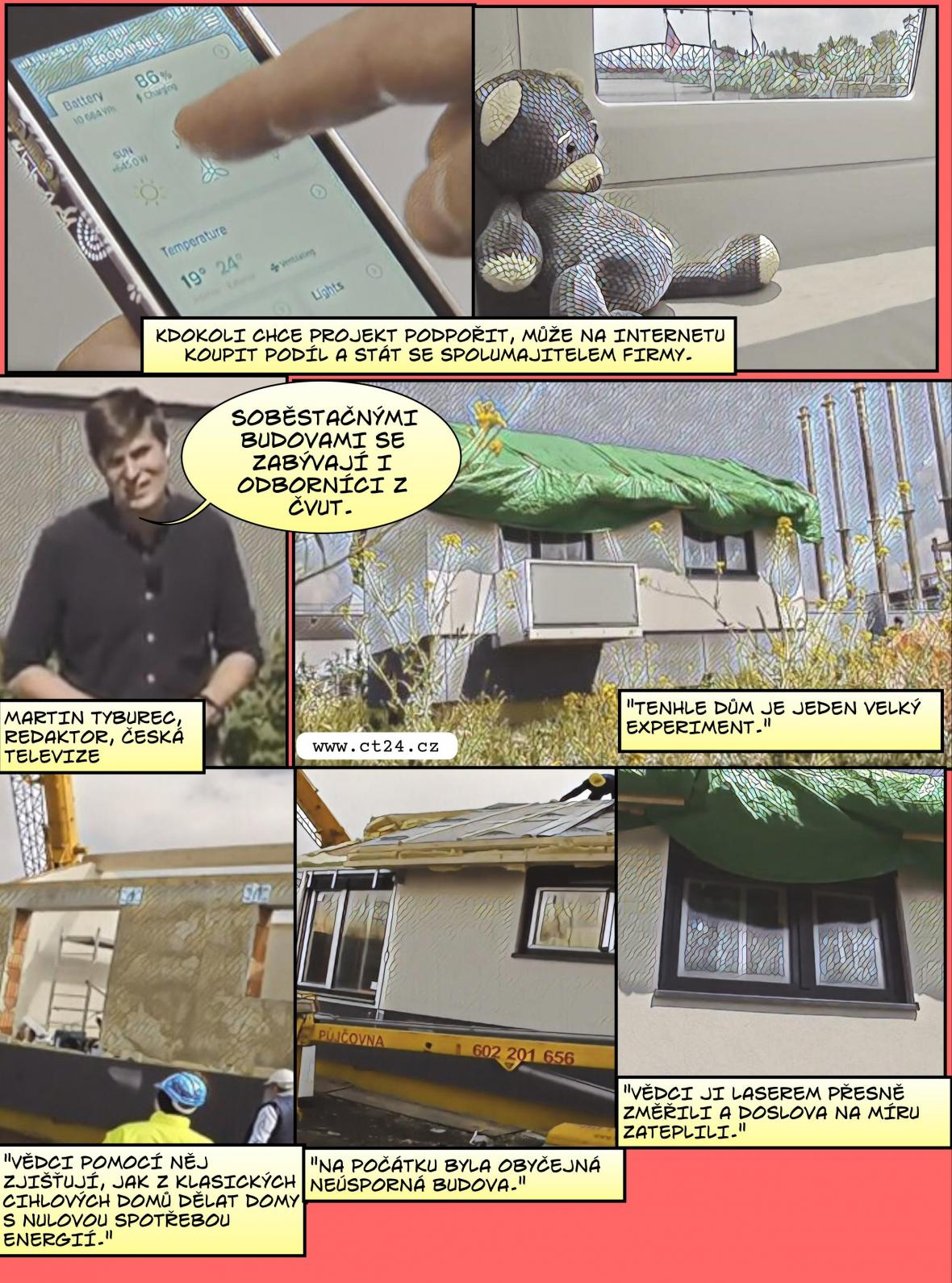 Komiks: Energeticky soběstačné domy