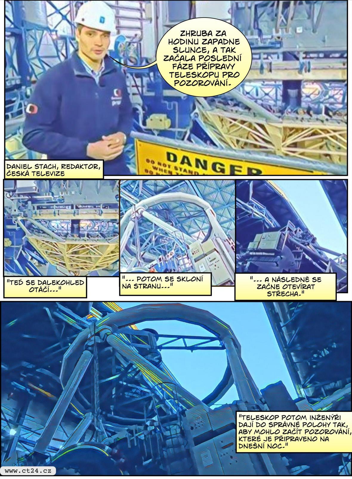 Komiks: V observatoři Pranal zkoumají vědci hvězdy i galaxie