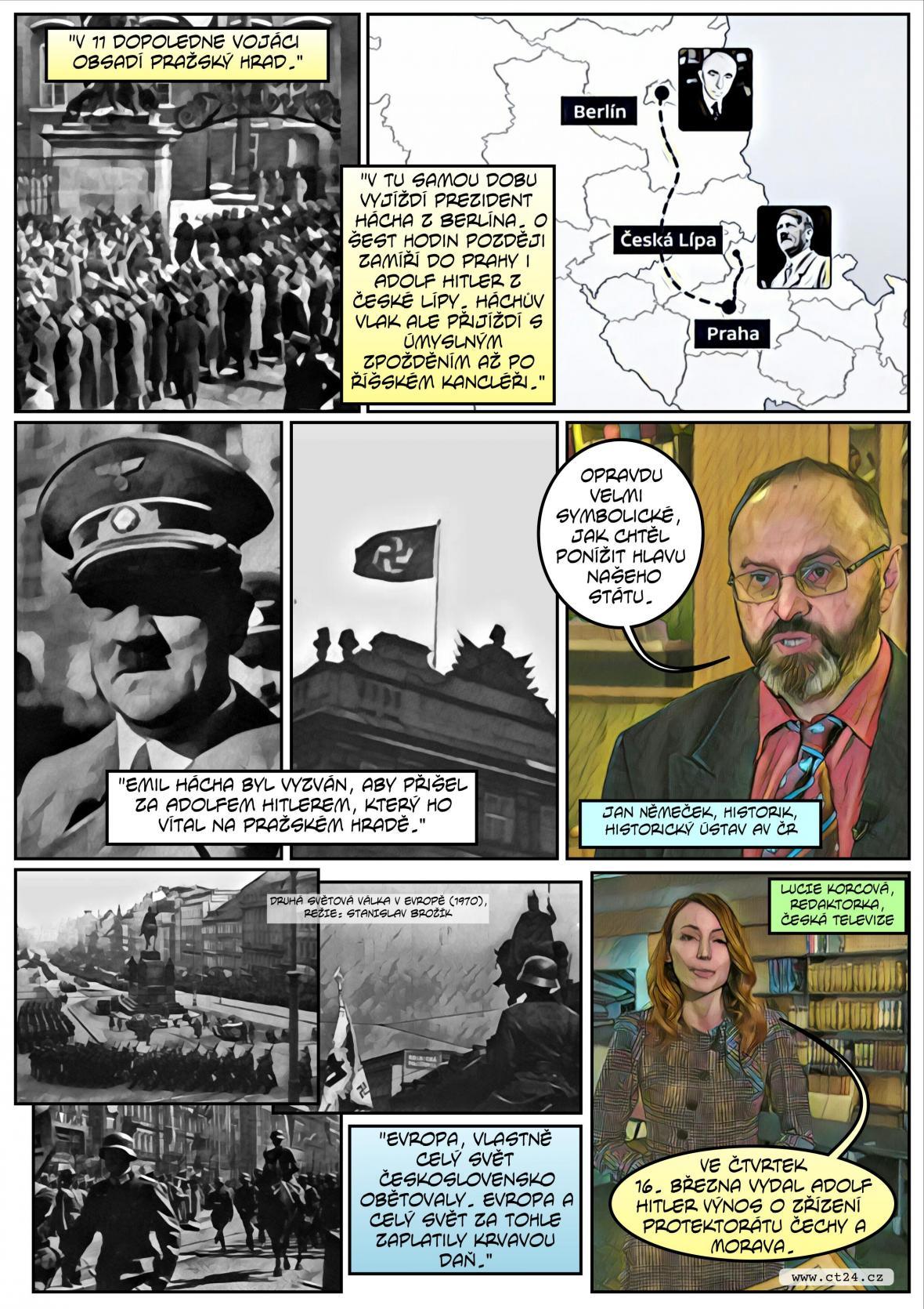 Komiks: Výročí obsazení republiky nacistickým Německem