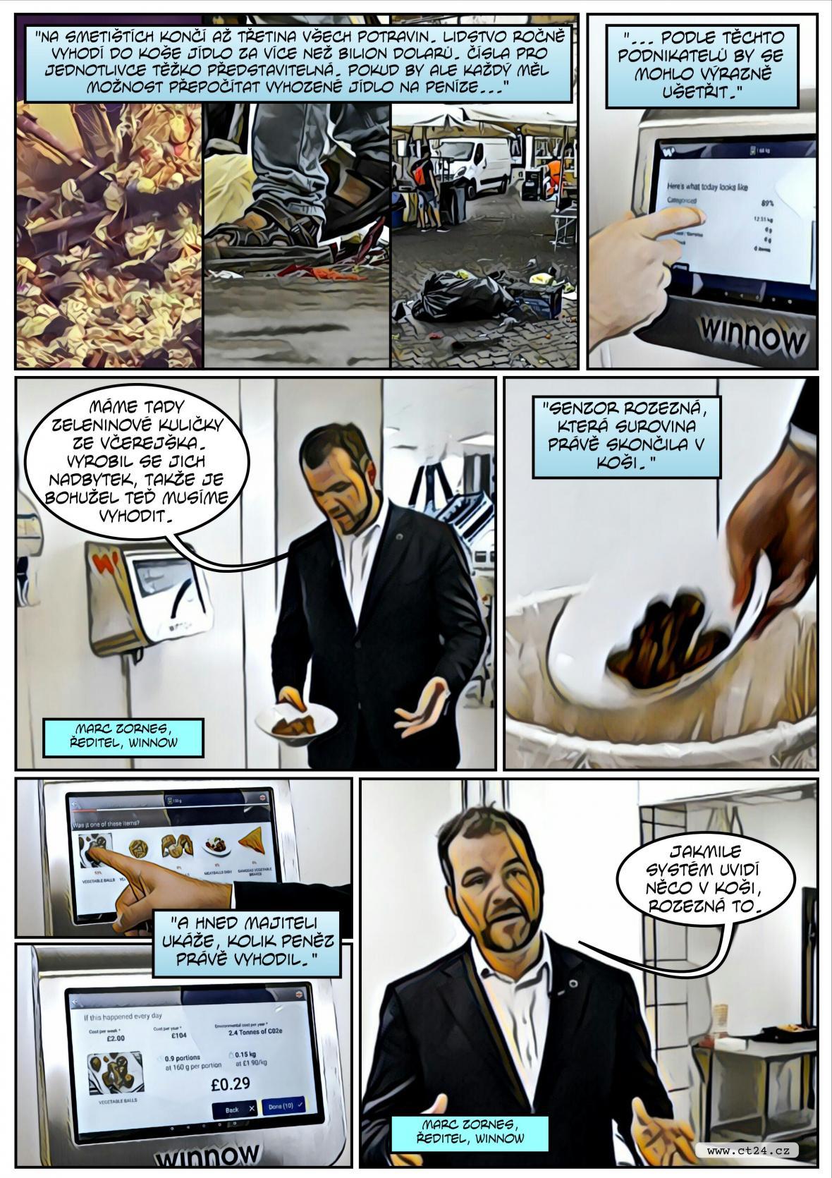 Komiks: Chytrý odpadkový koš