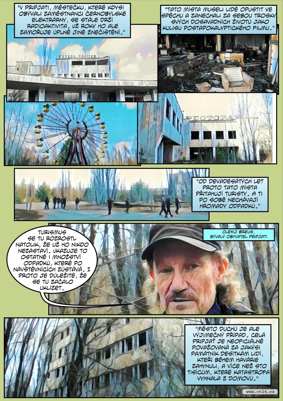 Komiks: Černobyl v obležení odpadků