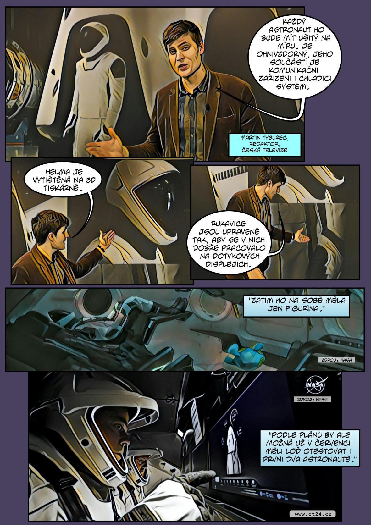 Komiks: Kosmická loď Crew Dragon zpátky na Zemi