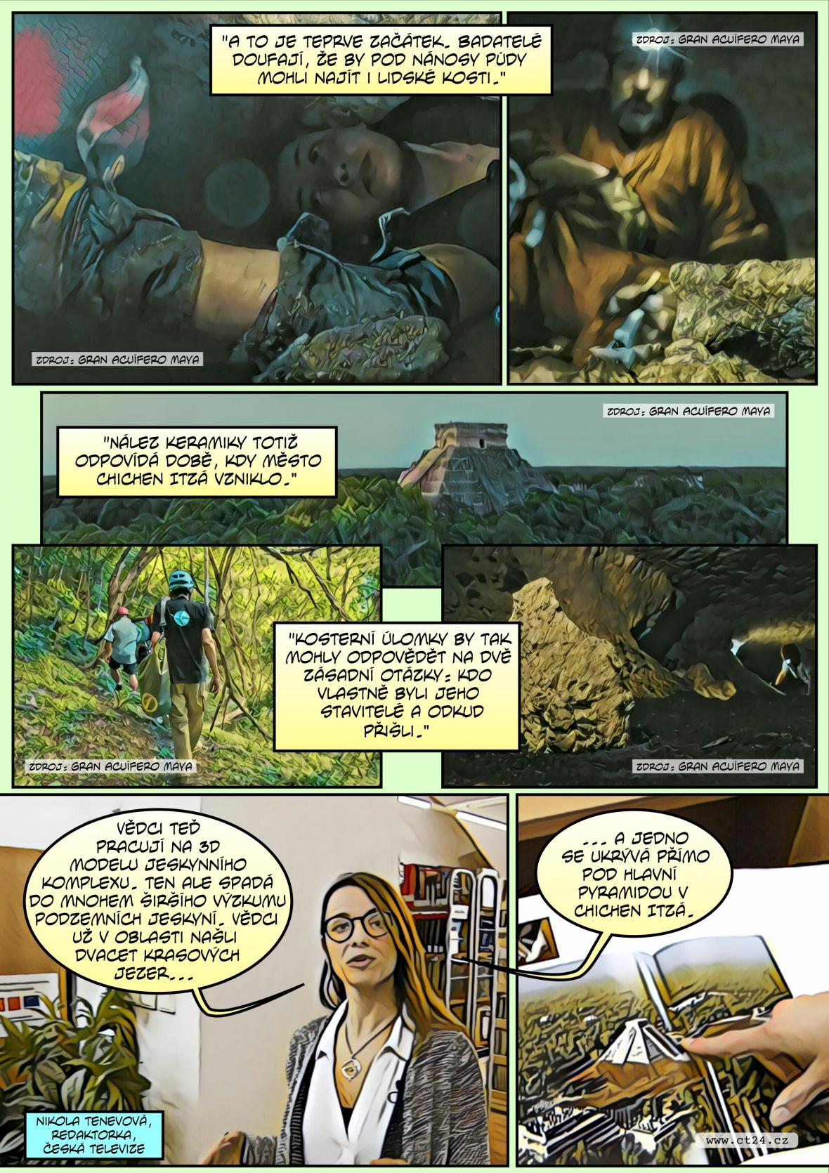 Komiks: Zlomové objevy v mayském městě